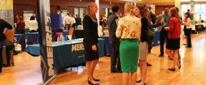 Pharmacy students attend the annual Career Fair.