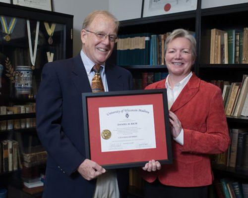 Citation recipient Dr. Dan Rich with Dean Jeanette Roberts