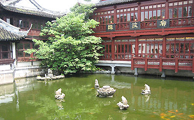 Pond at a Chinese palace
