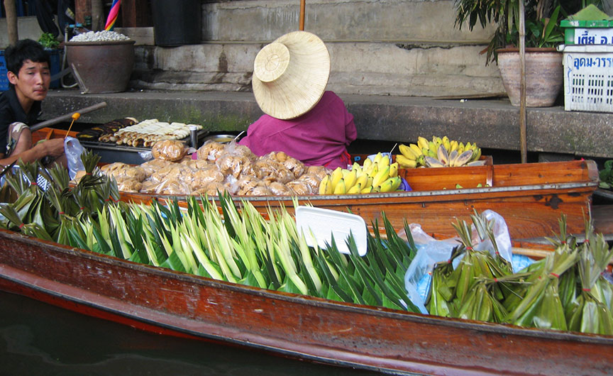 Boat of fresh produce in Thailand