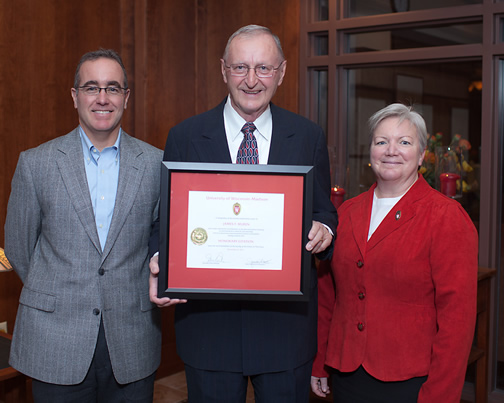Citation recipient Dr. Jim Muren and Dean Jeanette Roberts