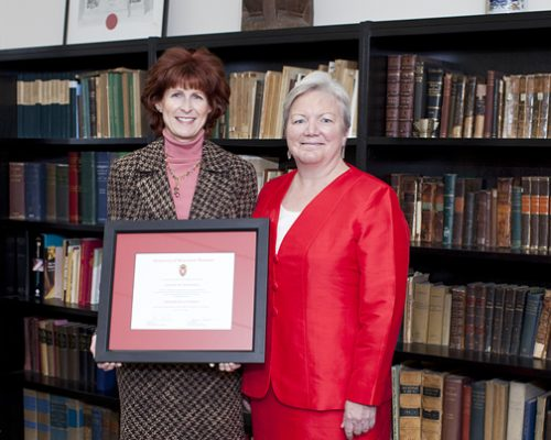 Citation recipient Lynnae Mahaney with Dean Jeanette Roberts