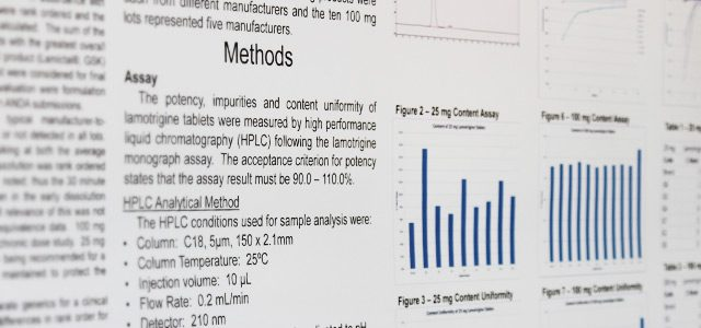Research Administration Office banner image: a research poster includes methods for a study.