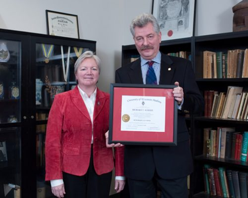 Citation recipient Dr. Rick Schiefe with Dean Jeanette Roberts