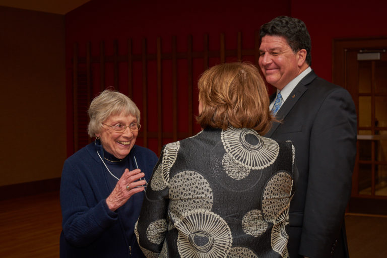 Rocky LaDien and his wife share a moment with Pat Weinswig.