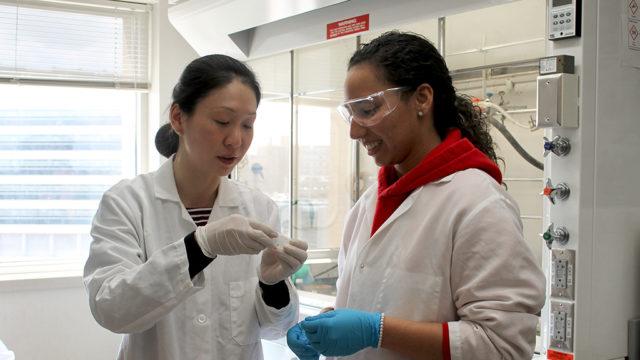 Assistant Professor Jiaoyang Jiang and Arielis Estevez