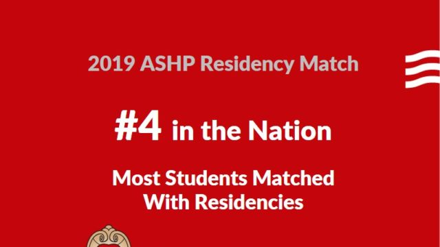 2019 Residency Match - SoP is #4 in the nation for most students matched with residencies