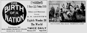 Advertisement for Birth of a Nation