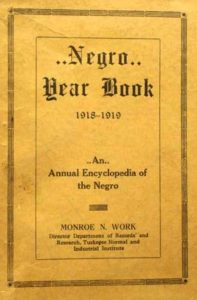 Cover of the 1918-19 Negro Yearbook