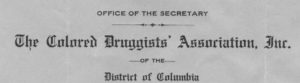 Letterheard of the Colored Druggists' Association