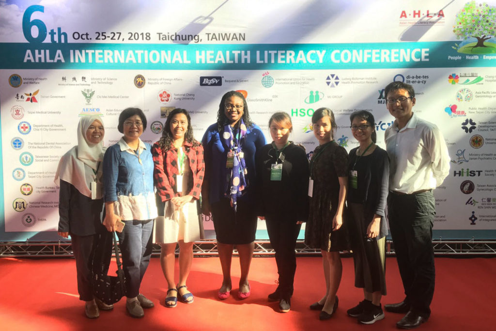 Assistant Professor Olayinka Shiyanbola at the 2018 Asia International Health Literacy Conference