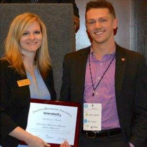 Connor Hanson (DPH-3) accepts the Generation Rx Region 4 award