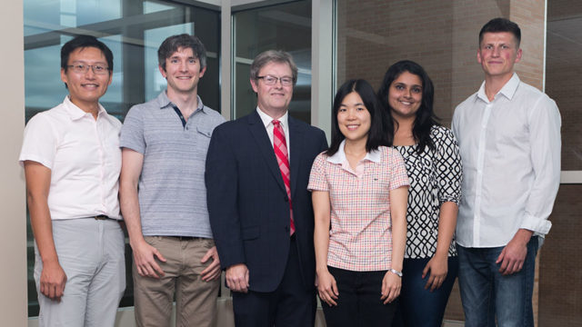 Chuck Lauhon and graduate students