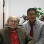 Richard Hsung sitting with Dr. Stork
