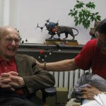 Dr. Stork laughing with Richard Hsung