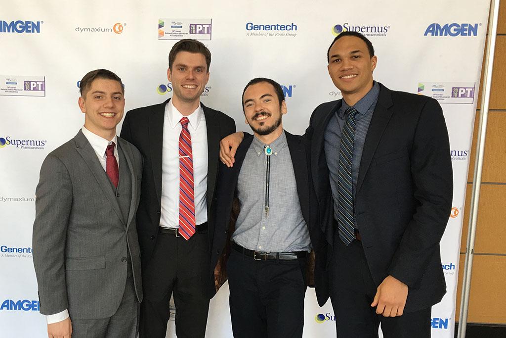 PharmD students Kyle Wayner, Ryan Simonet, Nick Friedlander, and Jahred Washington