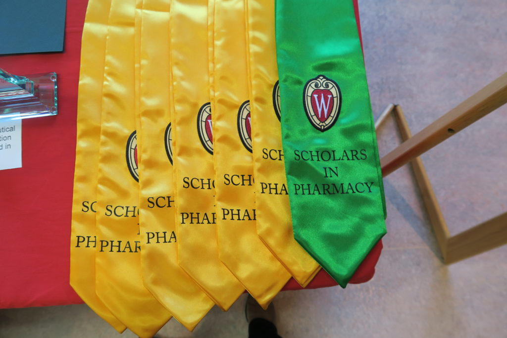 Stoles for distinguished students.