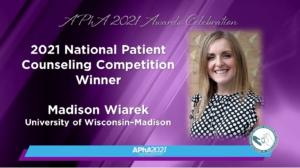 Slide from the APhA webinar featuring NPCC winner Maddie Wiarek