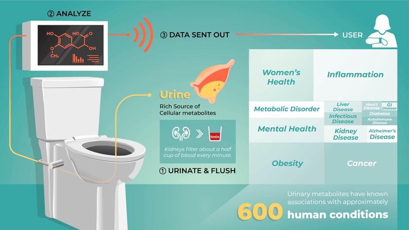 smart toilet illustration