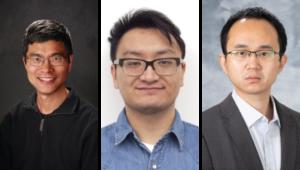 Professor Weiping Tang, alum Ka Yang (PhD '19), and Postdoctoral Associate Hao Wu