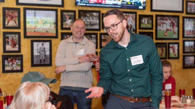Associate Dean for Advancement David Mott held an event in Milwaukee to reunite alumni.