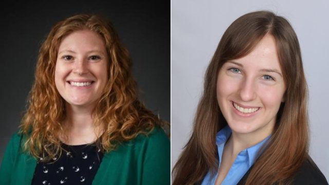Kathryn Zaborowski (PharmD '17) and Katie Kuecker (PharmD '17), 2018 Walmart Scholars.