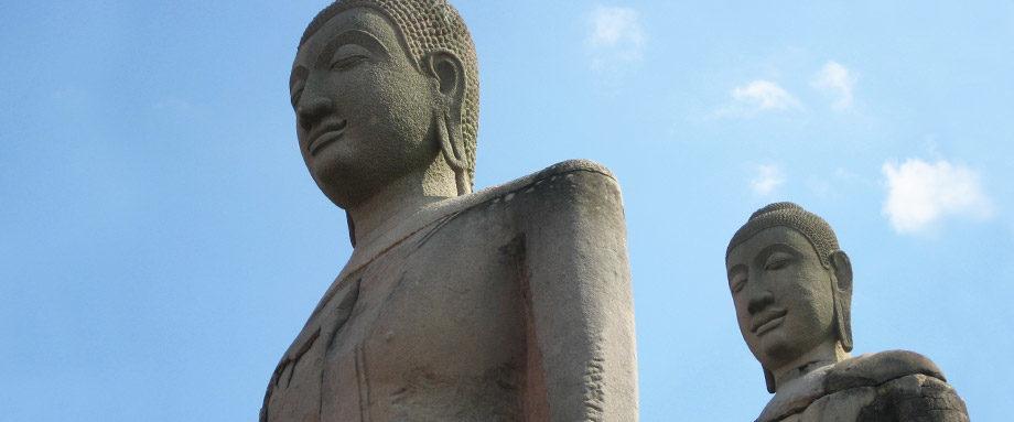 Stone buddhas in Thailand.