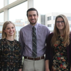 DPH-3 students Meredith Frey, Eric Friestrom, and Marnie Janson
