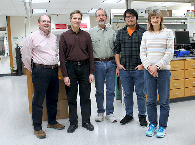 Z Station Personnel (left to right): Ed Elder, Mark Sacchetti, John Walton, Ney