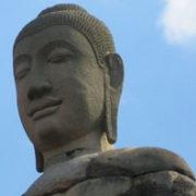 A Thai statue of Buddha.
