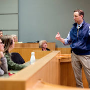 A UW professor teaching students.