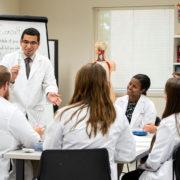 Professor Edward Portillo teaches a class.