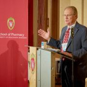 A speaker at the Merit Award Program.