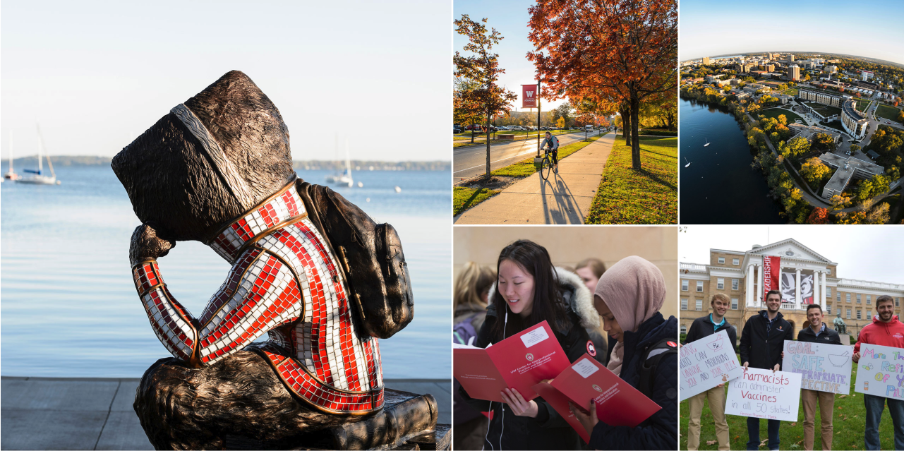 Scenes from UW's vibrant student community and campus.