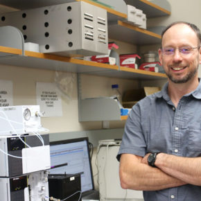 Tim Bugni in his lab
