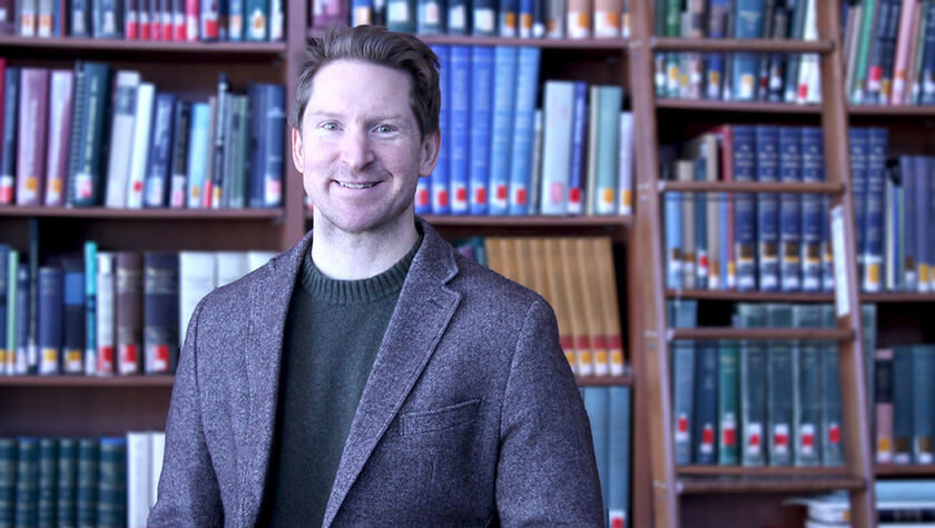 Lucas Richert, associate professor in the School's Social and Administrative Sciences Division