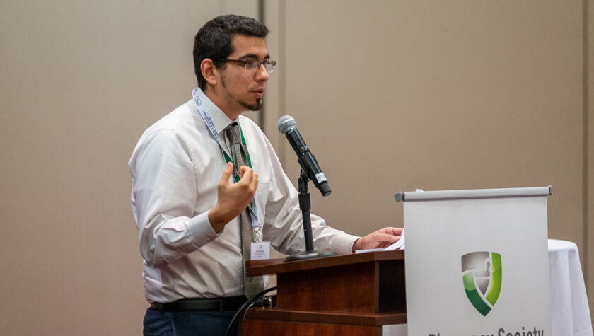 Assistant Professor Ed Portillo at the PSW annual meeting