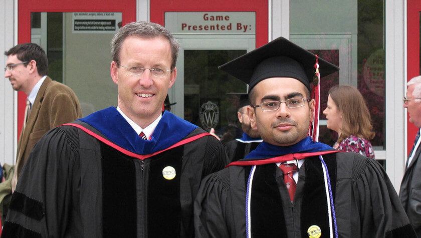 Abhijit Gadkari and his research mentor, Professor David Mott