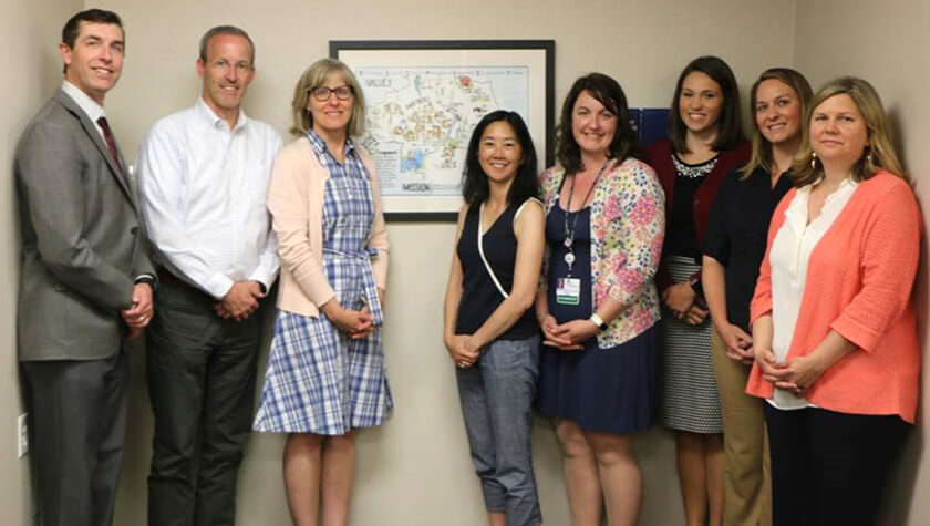 Team of researchers collaborating to improve appropriate prescribing of opioid medications