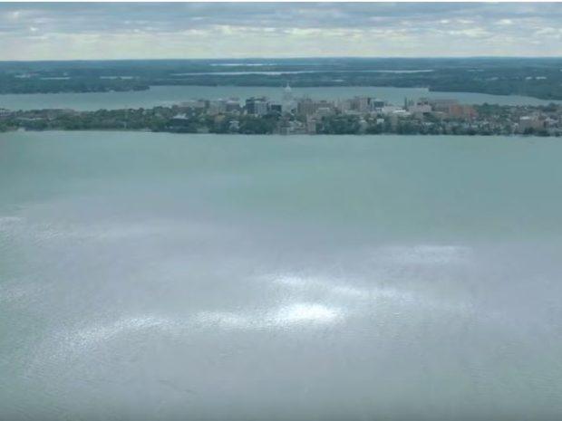 Floating above Madison