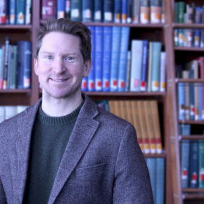 Portrait of Lucas Richert in the Ebling Library.