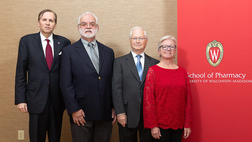 Portrait of 2019 Citation of Merit recipients Eric Goldman (accepting on behalf of Sanford Bolton), Art Schuna, Thomas Rosanske, and Jeanette Roberts.
