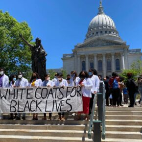 White Coats 4 Black Lives march on the Capitol on June 13, 2020.