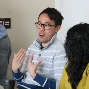 Tony Tam on a student panel