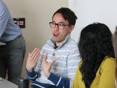 Tony Tam on a student panel