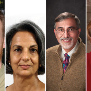 2020 Citation of Merit winners: Bruno Hancock, Nita Pandit, Greg Higby, and Susan Sutter