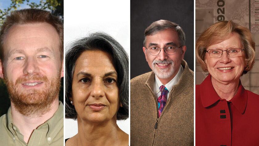 2020 Citation of Merit winners: Bruno Hancock, Nita Pandit, Greg Higby, and Susan Sutter