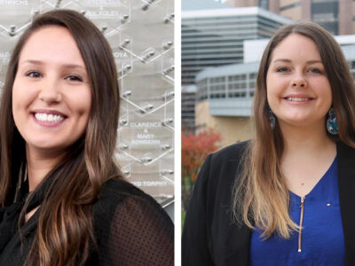 PharmD students Taylor Hauser and Jenevieve Van Order