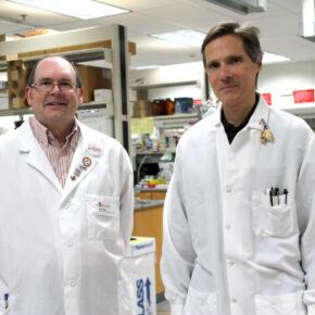 Ed Elder, director, and Mark Sacchetti, scientific director, of the UW–Madison School of Pharmacy's Zeeh Pharmaceutical Experiment Station