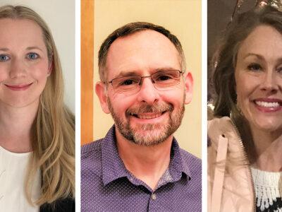Heather Hestekin (PharmD '13), John Davis (BS '90), and Justine McClelland (PharmD '11)